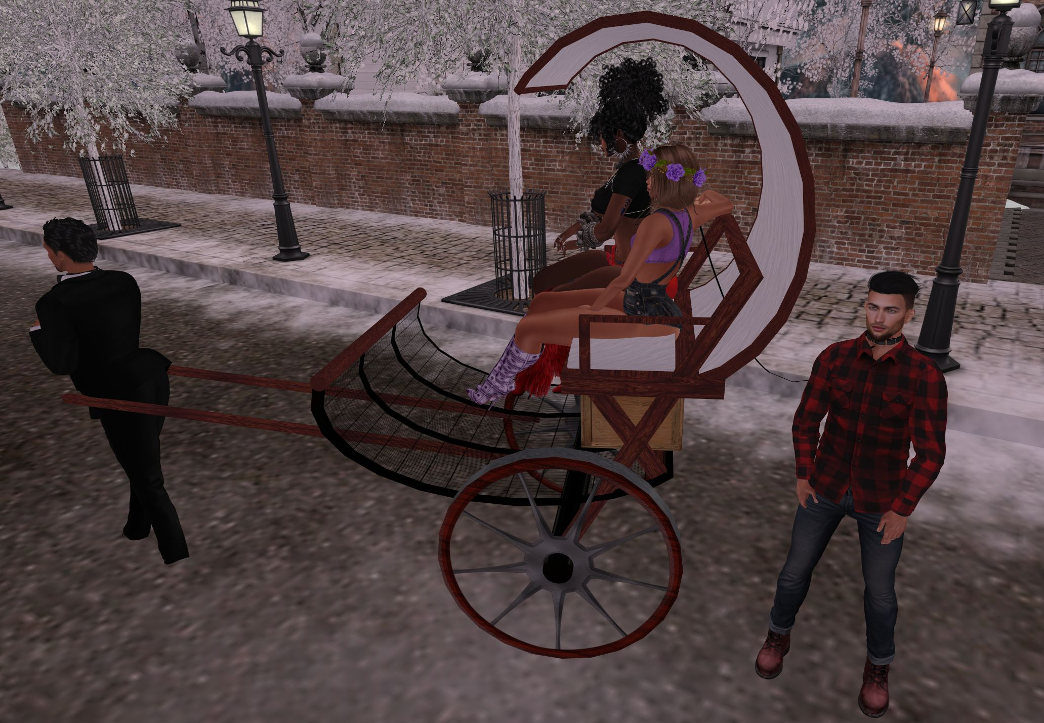 human rickshaw objectification